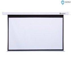4World Elektryczny ekran projekcyjny z pilotem 332x187 ścienny, sufitowy (16:9) Matt White
