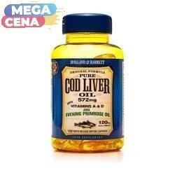 Olej z Wątroby Dorsza z Wiesiołkiem 500 mg 120 Kapsułek