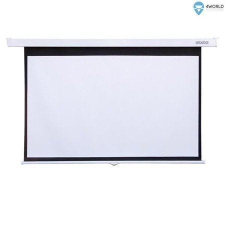 """4World Ekran projekcyjny ścienny 203×152(100"""", 4:3) Matt White"""