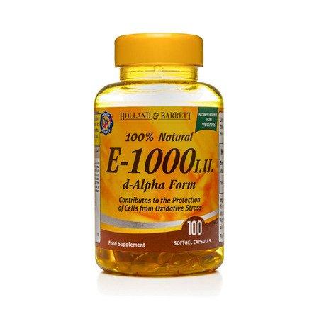 Witamina E 1000 j.m. Produkt Wegański 100 Kapsułek Żelowych