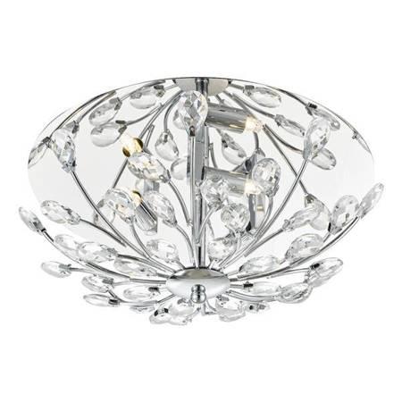 ZAFIR 3LT Lampa Sufitowa Motyw Kryształowy